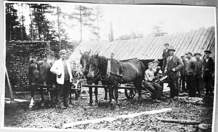 Avverkning i Järnblåst 1924