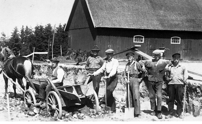 Vägarbete i Bälinge 1927