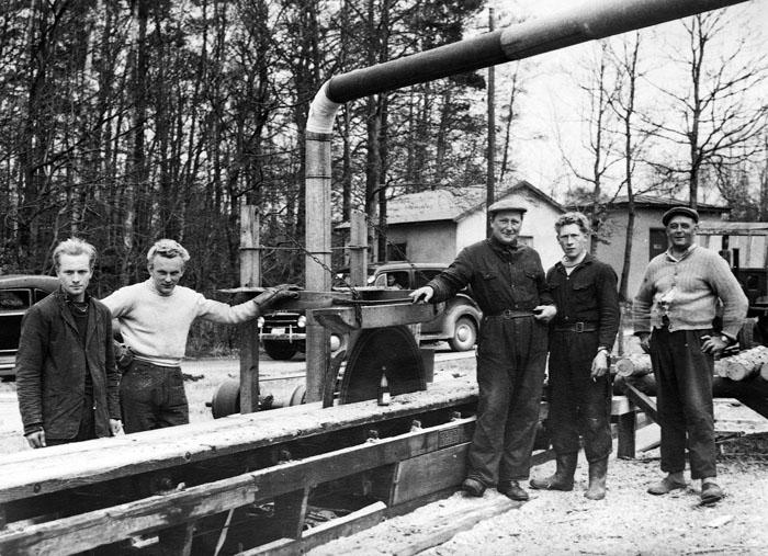 Ambulernade såg i mitten av 1950-talet i Skåner Värsjö